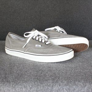 Vans Authentic, Skate Shoes Canvas, Grey, Mens 12